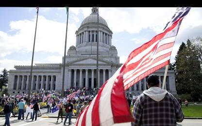 Coronavirus, negli Usa continuano le protesta. FOTO