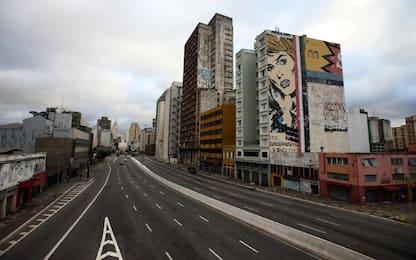 Coronavirus, San Paolo in Brasile vuota. FOTO