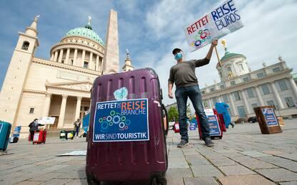 Germania, la protesta delle agenzie di viaggio. FOTO