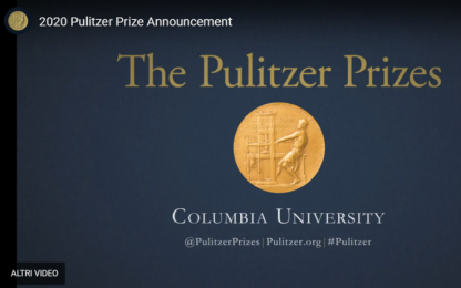 Premi Pulitzer 2020 assegnati via YouTube