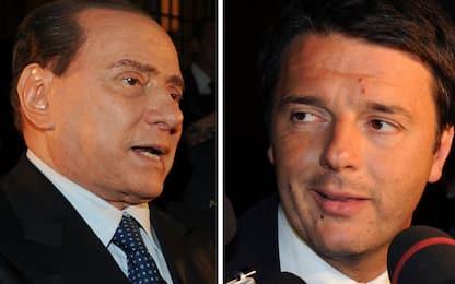 """Renzi: """"Ora rilancio il Pd"""". Berlusconi: """"Accordo se nessuno ha 50%"""""""