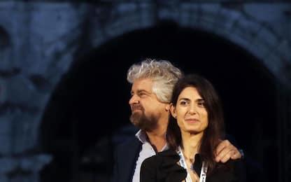 """Beppe Grillo: """"Roma ha bisogno ancora di Virginia Raggi"""""""