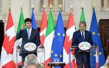 """Vertice Italia-Canada, Gentiloni: """"Impegno sul clima non cambia"""""""