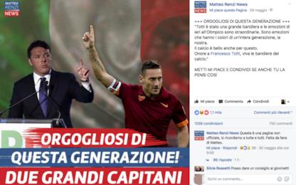 Da Totti alla gaffe dell'amministratore: il caso di Matteo Renzi News
