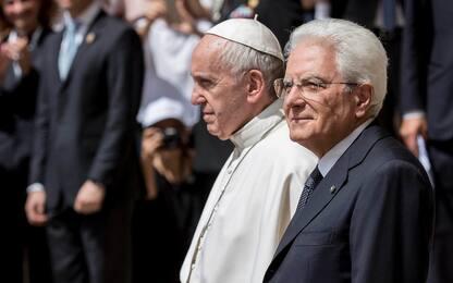 Il Papa al Quirinale da Mattarella