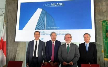 """Ema, Milano si candida. Gentiloni: """"Ce la giochiamo per vincere"""""""