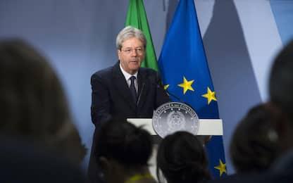 """Gentiloni: """"Rispettiamo autonomia Bankitalia, col Pd rapporti ottimi"""""""