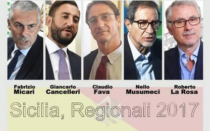 Elezioni regionali Sicilia, i listini dei 5 candidati a presidente