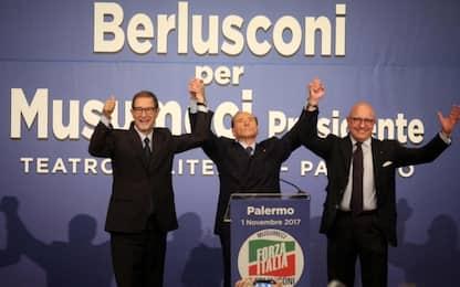"""Elezioni Sicilia, Berlusconi a Palermo: """"Chi vota M5S non ragiona"""""""