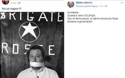 """Salvini minacciato su Facebook: """"È violenza. Ora vi scandalizzate?"""""""