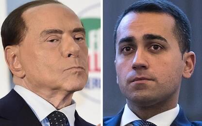 """Berlusconi: """"M5S setta populista"""". Di Maio: """"Triplicheremo i seggi"""""""