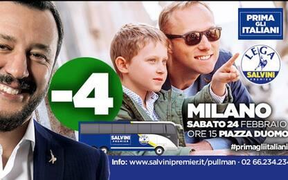 """Elezioni, Salvini: """"Prima gli italiani"""". Ma usa foto di stranieri"""