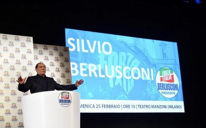 """Elezioni 2018, Berlusconi: """"No a un governo di soli politici"""""""