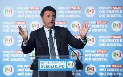 """Elezioni 2018, Renzi: """"Sosterrò ogni premier Pd. Occhio a estremisti"""""""