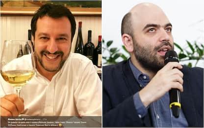 Saviano e 99 Posse replicano al brindisi sarcastico di Salvini