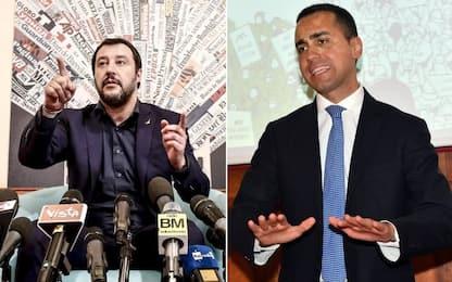 """Di Maio: """"No a un Nazareno bis"""". Salvini: """"Una presidenza va al M5S"""""""