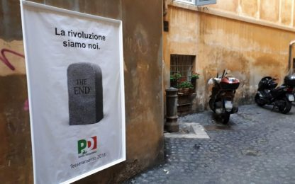 "Street art a Roma, il manifesto ""stronca"" il Pd: ""The end"""