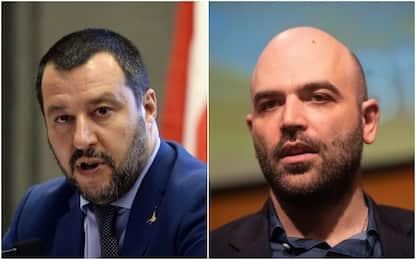 Saviano indagato per diffamazione dopo la querela di Salvini