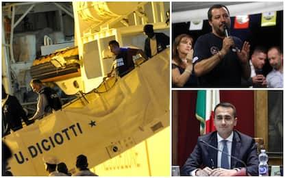 Diciotti, Salvini: andrò in fondo. Di Maio: rispettare decisione Colle