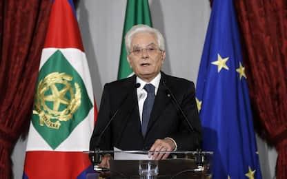 """Terrorismo, Mattarella: """"Fu sconfitto dall'unità del popolo italiano"""""""