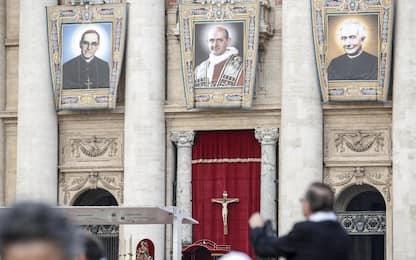 Papa Francesco proclama santi Paolo VI e monsignor Romero