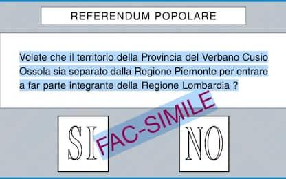 Verbano Cusio Ossola, referendum per passare da Piemonte a Lombardia