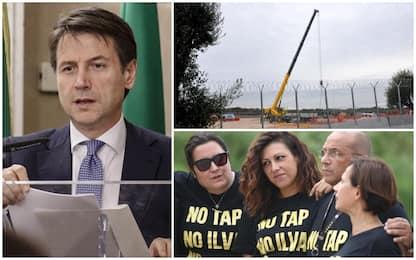 """Tap, Conte ai sindaci: """"Si deve fare"""". Salvini: """"Avanti con i lavori"""""""