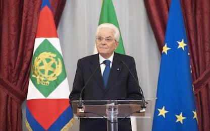 """Mattarella: """"Senza finanze solide non è possibile tutelare i diritti"""""""