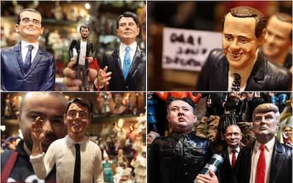 Le statuette dei politici nel presepi di Napoli