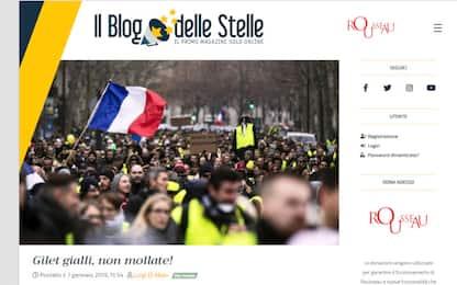 Di Maio, sostegno M5S a gilet gialli: vi offriamo piattaforma Rousseau