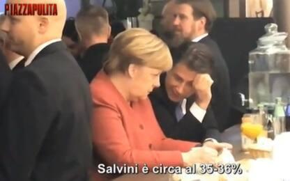 """Fuorionda a Davos, Conte a Merkel: """"M5s soffre per calo nei sondaggi"""""""
