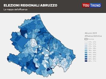 Abruzzo, i risultati nelle precedenti elezioni: LE MAPPE