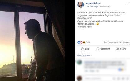 """Salvini alle donne: """"San Valentino? Una festa da abolire"""""""