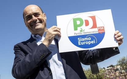 """Europee, Zingaretti: """"Ecco il logo del Pd per vincere le elezioni"""""""