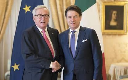 "Conte incontra Juncker: ""Rallentamento economico era previsto"""