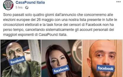 CasaPound contro Facebook: cancellati i profili dei nostri dirigenti