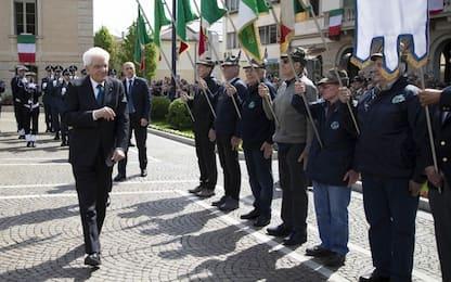 """25 aprile, Mattarella: """"Celebriamo la libertà dopo la dittatura"""""""
