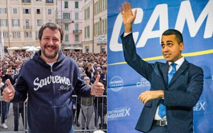 """Salvini: """"Europee come referendum"""". Di Maio: """"A Renzi non andò bene"""""""