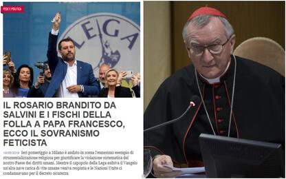 """La Chiesa contro Salvini: """"Invocare Dio per se stessi è pericoloso"""""""