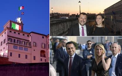 Quirinale, Salvini e Di Maio con le fidanzate. FOTO