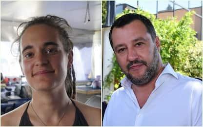 """Carola Rackete querela Salvini. La replica: """"Non la temo"""""""