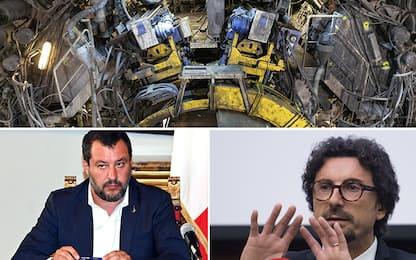 """Tav, Salvini: """"Basta no"""". Toninelli: """"Ogni tanto sacrosanti"""""""