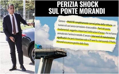 """Ponte Morandi, Di Maio: """"Perizia shock, via concessione ad Autostrade"""""""