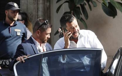 """Crisi governo, Salvini: """"Mi candido premier, italiani mi diano poteri"""""""