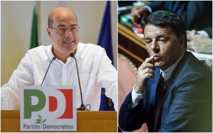 """Pd, Zingaretti fa appello all'unità. Renzi: """"Mi rimetto in campo"""""""
