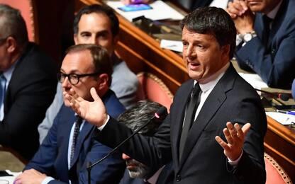 Crisi di governo, il discorso di Renzi al Senato