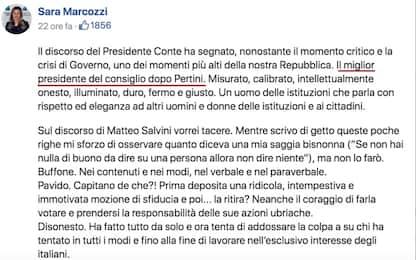 Gaffe Marcozzi (M5S): Conte miglior premier dopo Pertini. Poi corregge