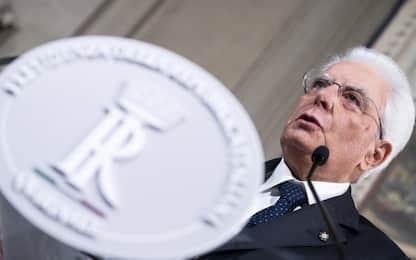 """Crisi governo, Mattarella: """"Martedì nuove consultazioni"""""""