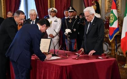 Il giuramento del nuovo governo Conte, cerimonia al Quirinale. VIDEO