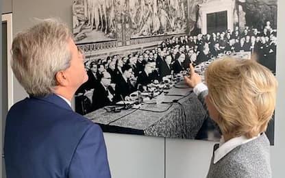 Nomine Ue, l'incontro tra Gentiloni e Ursula von der Leyen
